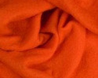 Orange Parrot - 19 Micron Merino Pre Felt 150 cm wide Weight: 170 gr/mt.  1 Meter x 1.5 Meter (100cm x 150cm) or 12 X 12 Sheet