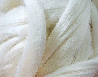 Undyed Ramie Fibre for Spinning or Felting - 10 grams (Ecru color)