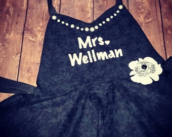Little Black Apron - Personalized Apron - Made to Order!