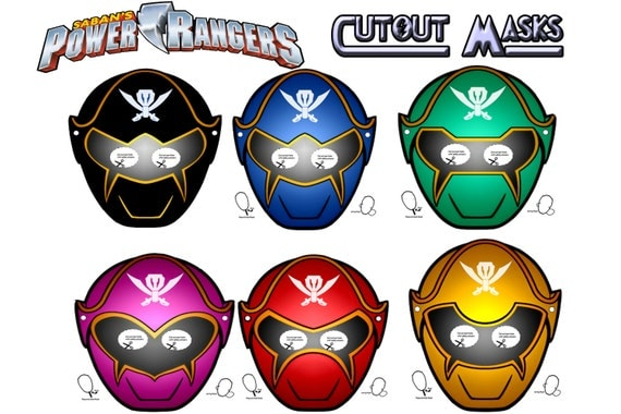 It's just a picture of Dynamic Power Ranger Mask Printable