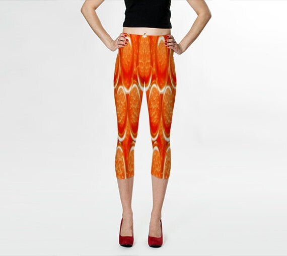 Items Similar To TANGERINE Capris/Yoga Pants/Womens/Teens