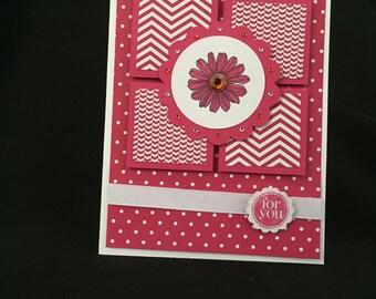 Pink Flower Happy Birthday