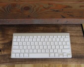 Keyboard Tray Reclaimed Wood Desk Add On