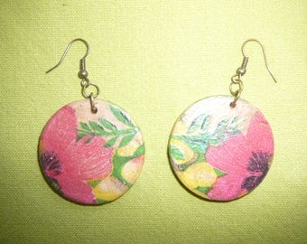 Lilly Pulitzer Vibe Lush Tropical Handmade Earrings