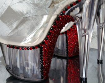 pole dance heels crystallized (strassed )