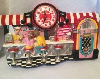 Coca-Cola 50s Ice cream/Soda shop Clock