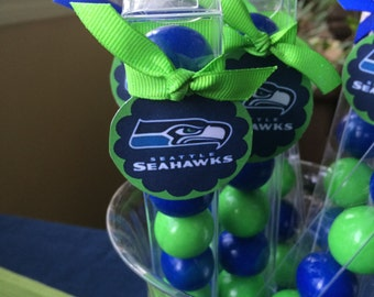 Seahawks Football Party Favor Gumball Candy