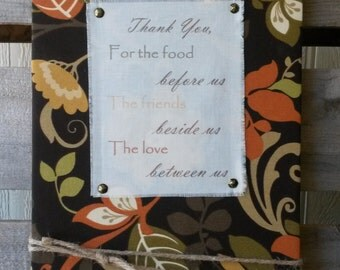 50% OFF!!! Original price 18.00 - THANK YOU - Thanksgiving, Inspirational quotes, fall, brown 11 x 16 x 1