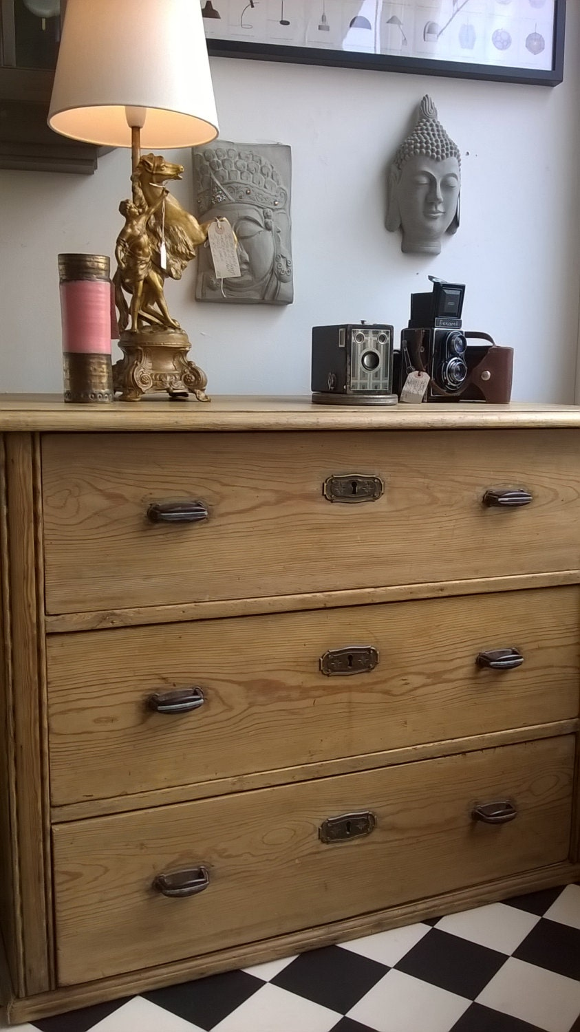 Antique Pine Chest Of Drawers Vintage Wood Chest Of Draws Living Room Bedr