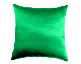 Green Pillow Covers, Satin Throw Pillow, Pillow, Decorative Pillows, Decorative Pillows For Couch, Decorative Pillow, cushion cover