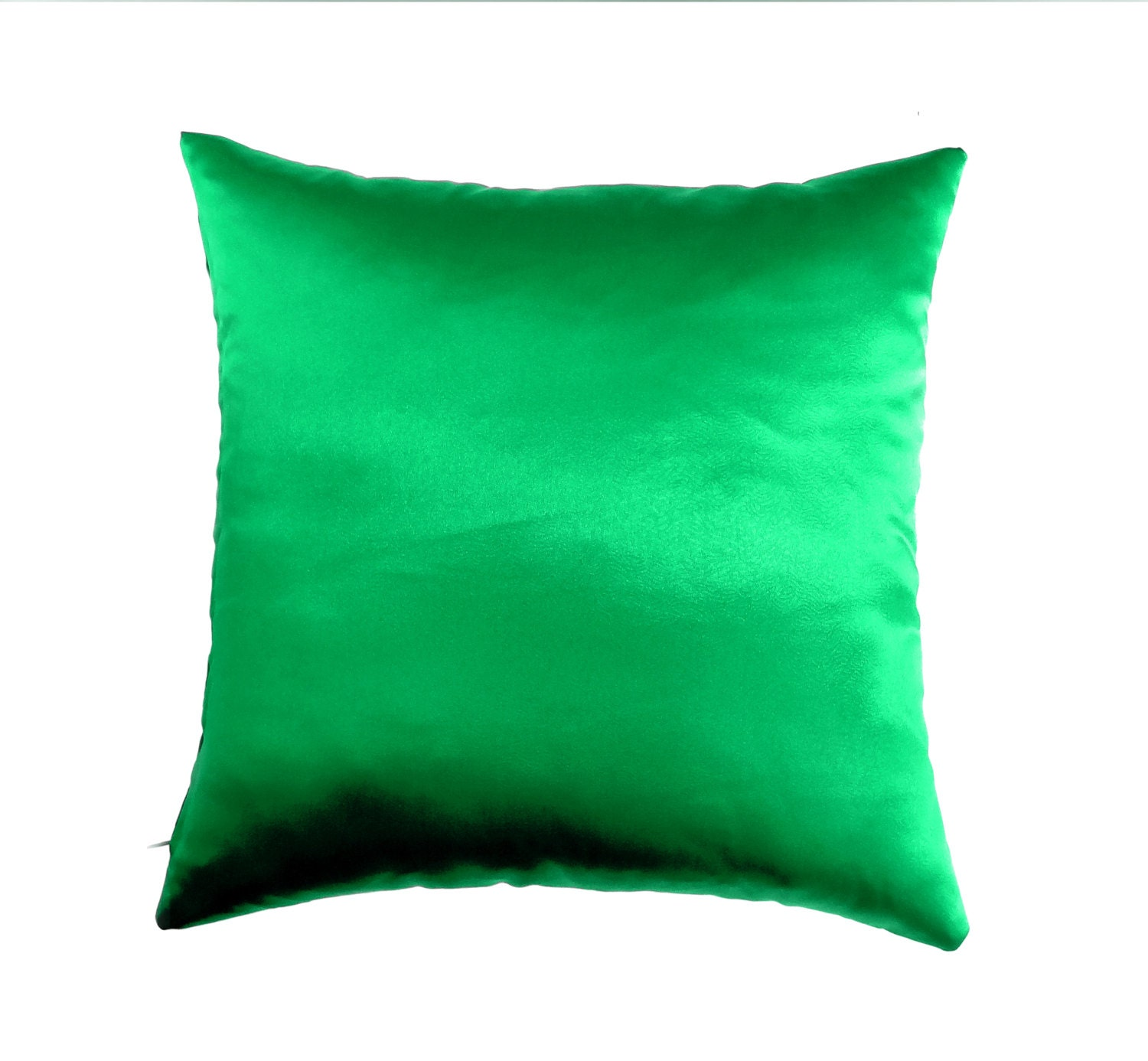 Decorative Pillows With Green : Green Pillow Covers Satin Throw Pillow Pillow Decorative