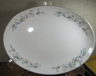 Vintage Nasco Fine China Serving Platter - Baronet Pattern - Made in Japan