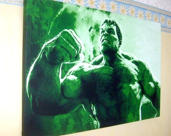 Hulk Inspired Canvas Art Picture(size A1), NEW