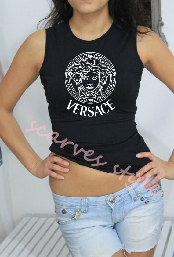 Versace shirt versace t shirtwomen tshirt black by for Versace t shirts women