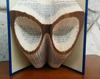 Eyeglasses - Folded Book Art - Fully Customizable, hipster, glasses, optometrist, glass