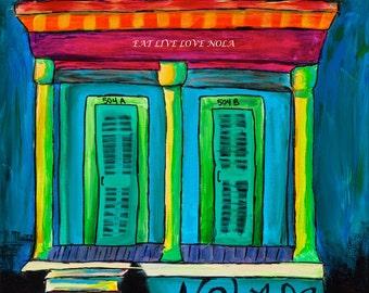 Colorful New Orleans Shotgun House PRINT