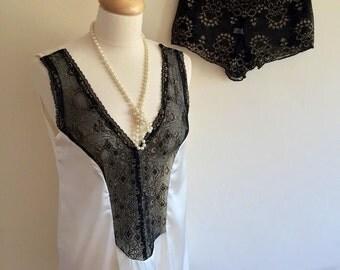 Summer sleepwear, heatwave nightwear,1920's nightwear, handmade nightie, silk nightwear, gift for her