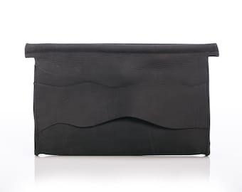 Gift for her, Leather bag, leather clutch, black clutch, special offer, evening bag, black evning bag,gift for a woman, unique bag, sale