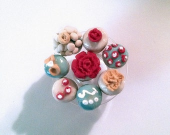 1:12 Scale Miniature Summer at Tiffany's Cupcake Collection OOAK