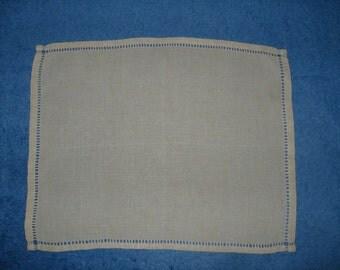 Vintage French, Plain, Metis Linen, Ladder work, Tray Cloth, Placemat, Centre Piece, Table Linens, Dining, Serviette, Mat