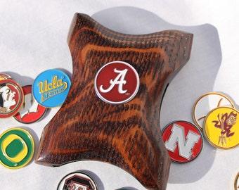 Alabama Wallet Money Clip ,Crimson Tide wallet, Alabama Money clip, Crimson Tide money clip, Alabama Wallet, cool money clip, wood wallet