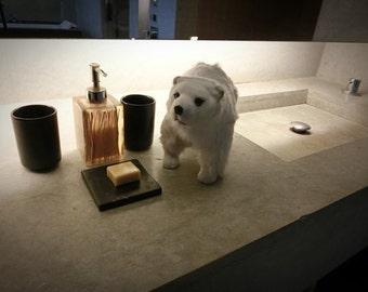 Polar bear doll ---Handmade animal dolls