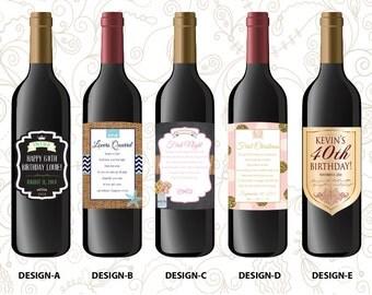 Milestone Bottle Labels