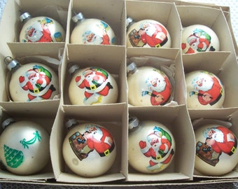 One Dozen Made in U.S.A Christmas Ornaments