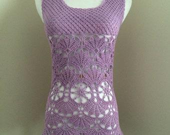 Handmade crochet lace tunic