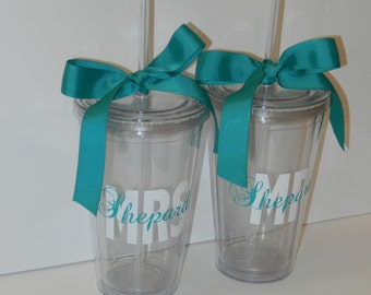 Mr. & Mrs. Wedding Tumblers