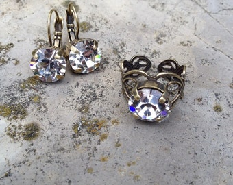 Swarovski crystal ring and earring set