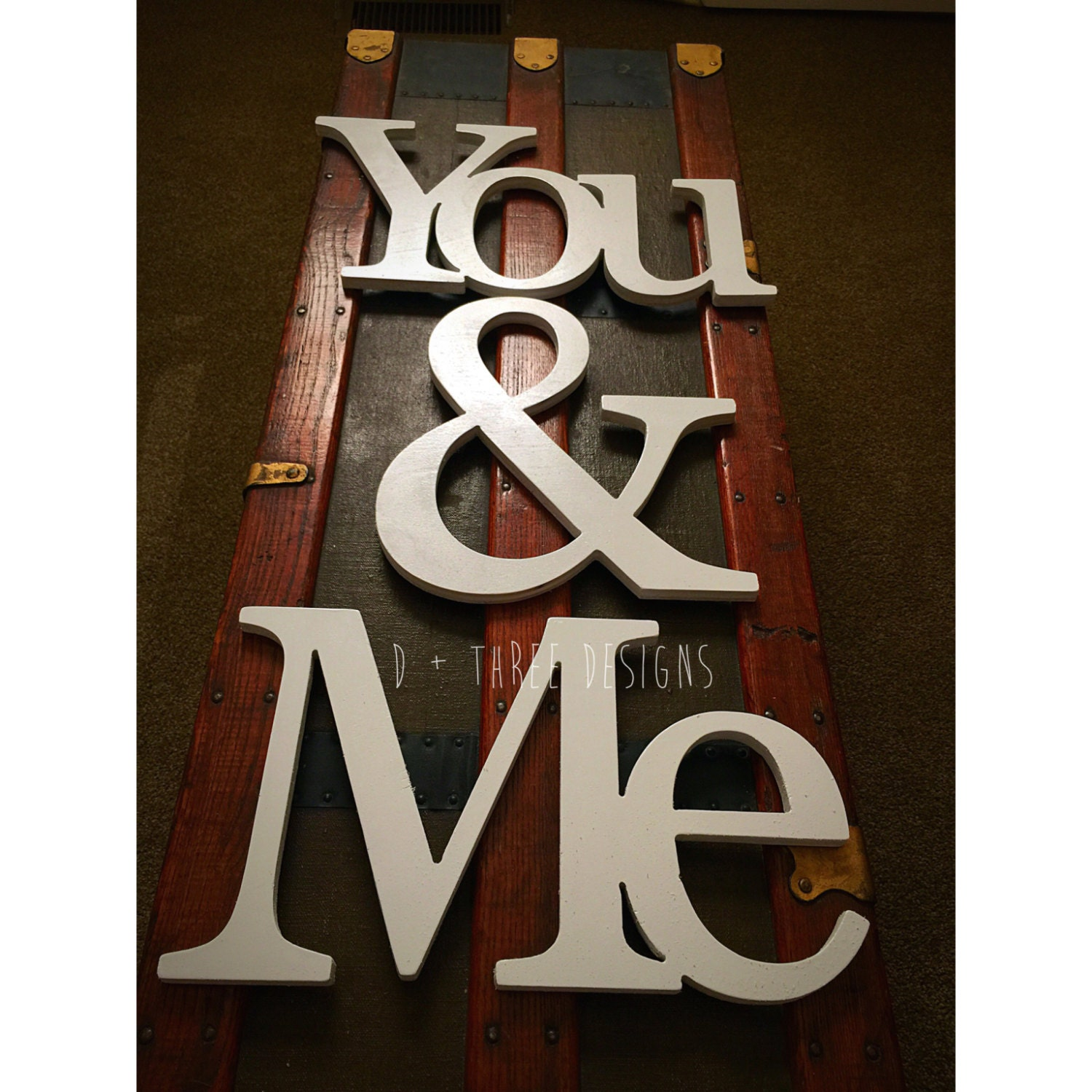 Me You Painted Wooden Letters You And Me Wooden Letters
