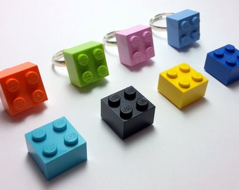 Lego ring - 8 colors available - Lego ring