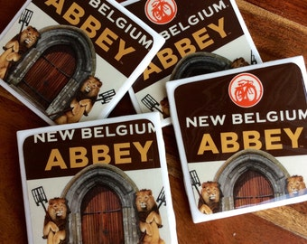 New Belgium Abbey Beer Coasters