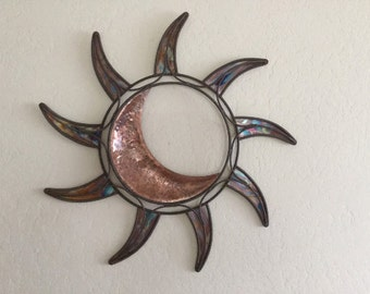 Copper Sun & Moon Wall Art Home Decor