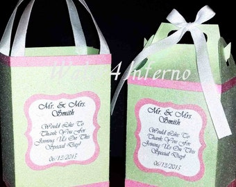 Mint Green Gift Bags, Pink Gift Bags, Wedding Favor Bags, Custom Gift Bags