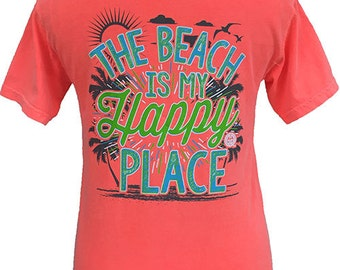 Girlie Girl Originals Happy Place-Beach Comfort Colors T-Shirt