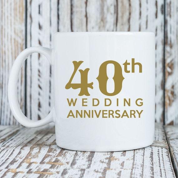 Wedding Gifts For Couples Over 40 : 40th Wedding Anniversary - Couples Mug Universe Coffee Mug - 11 Oz or ...