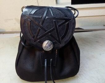 leather sporran pentacle