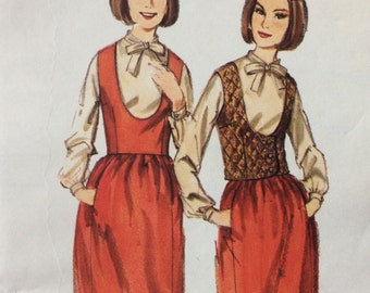 Butterick 3648 vintage 1960's misses jumper, weskit & blouse sewing pattern size 10 bust 31 waist 24 hip 33  Uncut - factory folds