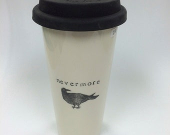 Raven Nevermore venti ceramic travel mug