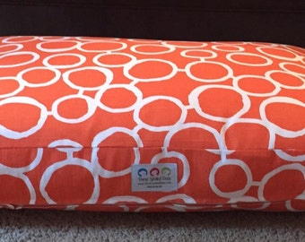 Pippi Dog Bed * Orange * Medium Large  * Personalize * Embroider with your Pups Name * Custom Sizes * Pillow Cover * TSD