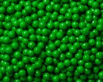 "Dark Green Sugar Pearls  ""Cake/Cupcake/Cookie Decorations"""