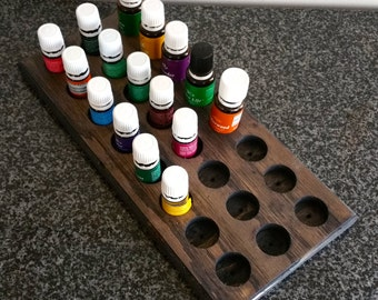 Essential oil storage flat 24ct    assorted color finishes