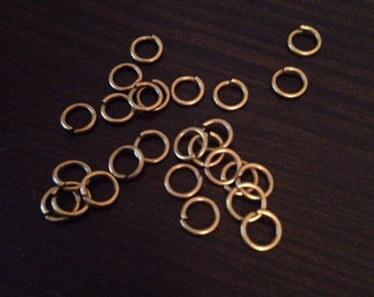 Antiqued Bronze Jump Rings Jewelry Making 200 pieces
