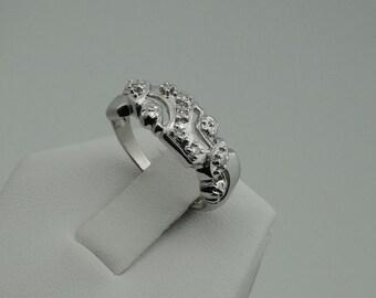 Vintage 1930's Art Deco 14K White Gold and Diamond Ring  #WG1930D-GR1