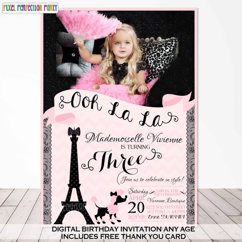 Paris Birthday Invitation Paris Birthday Party French Birthday