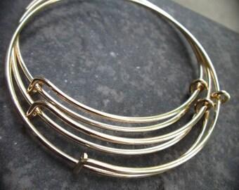 SALE Set of 6 gold finish adjustable bangle bracelet blanks expandable bangle bracelets popular style