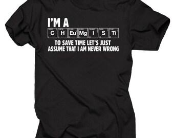 Funny Chemist T-shirt Gift for Chemistry Teacher Chemist Father's Day Birthday Gift