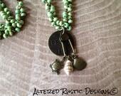 Beaded pendant beach necklace/ breathe pendant charm necklace/ sea shell sea turtle charm necklace with pendant/ necklace/ charm necklace